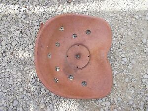Farmall Ford Ac Oliver Jd Ih Tractor Drill Implement Steel Metal Seat Pan