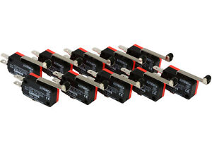 10 Pc Temco Micro Limit Switch Long Roller Lever Arm Spdt Snap Action Home Lot