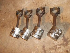 Allis Chalmers G Tractor A C Ac Engine Motor Piston Pistons Rod Rods Caps Rings
