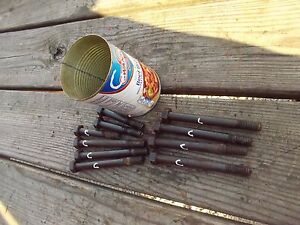 Allis Chalmers C Tractor Engine Motor 10 Harden Cylinder Ac Head Bolts Bolt
