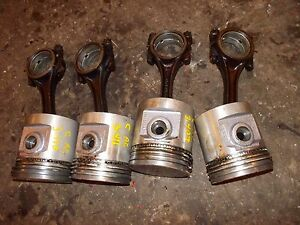 Allis Chalmers C B Tractor Ac Engine Motor 4 Pistons Rings Rods