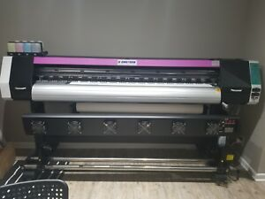 1830mm 72 Large Format Printer Eco Solvent rip wide Banners Vinyls Outdoor