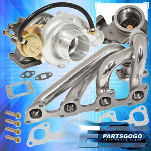 90 93 Volvo 240 2 3l Exhaust Manifold Jdm T3 T4 Jdm V Band Oil Cooled Turbo
