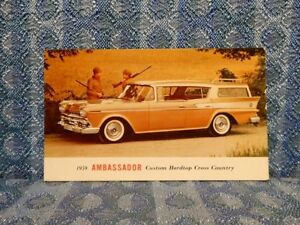 1959 Rambler Ambassador Custom Hardtop Cross Country Original Ad Postcard