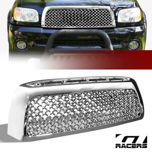 For 2007 2009 Toyota Tundra Chrome Tr Sport Mesh Front Bumper Grill Grille Abs