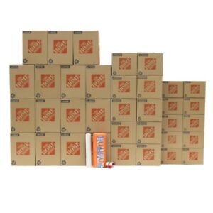 Moving Boxes 35 Boxes Packing Paper Protective Wrap Tape Marker Medium Shipping