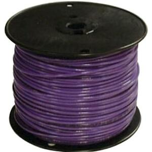 Electrical Thhn Wire Single Conductor Purple Pre cut Length Stranded 500 Ft 14