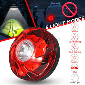 Led Emergency Flash Strobe Light W Magnetic Bottom Super Bright Two Modes Red