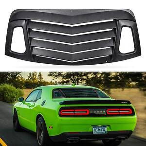 For Dodge Challenger 2008 2019 Rear Window Louvers Windshield Sun Shade Cover