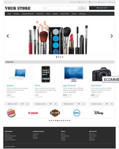 Ecommerce Store Responsive Shopping Cart Website Free Installation