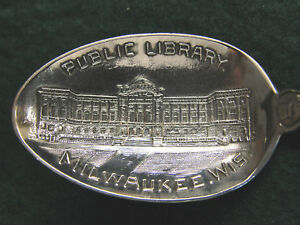 Sterling Souvenir Spoon Milwaukee Wi Public Library 1900