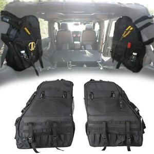 Roll Bar Saddle Storage Cargo Bag Organizers For Jeep Wrangler Tj And Jk 4 door