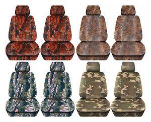 Truck Seat Covers 2012 2018 Dodge Ram Camouflage Design Custom Fit Front Set Abf