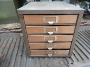 Older Kennedy Bench Top Parts Cabinet With Dividers Heavy Duty Lot A