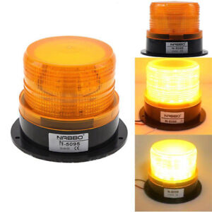 Led Car Warning Light Emergency Light Bulb Amber Flashing Strobe Beacon 12v 24v