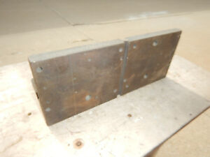 Older Wide Short Angle Plate Machinist Tooling Jig Fixture