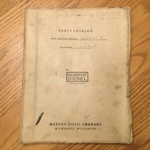 Murphy Mp621t Diesel Engines Parts Catalog Manual Book Guide List 6 Cylinder
