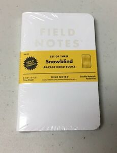 Field Notes Snowblind 3 pack Memo Notebooks Pads Limited Edition winter 2015