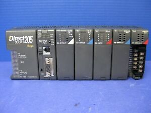 Direct Logic 205 6 slot Plc W Dl250 Cpu And 5 Modules Used
