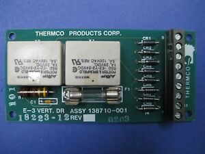 Thermco 138710 001 E 3 Vert Dr Pcb Assembly