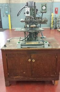 Kensol K52 t Hot Foil Stamping Press Air Power W extra Chase Working Condition