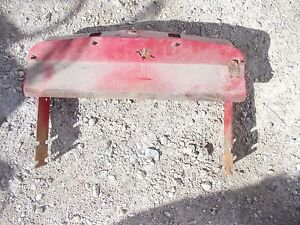 International 340 Utility Tractor Ihc Front Top Bonnet Grill Holder To Radiator