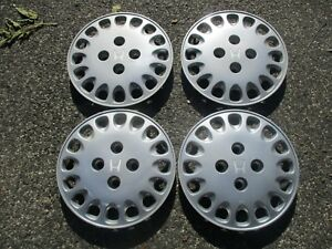 Genuine 1990 To 1995 Honda Accord 14 Inch Bolt On Hubcaps Wheel Covers Set