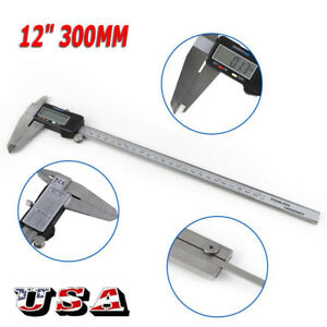 12 Inch 300mm Electronic Digital Vernier Caliper Micrometer Large Lcd Display S