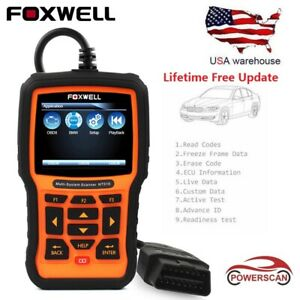 Foxwell Nt510 Full Systems Engine Abs Airbag Dpf Tpms Epb Reset Scanner For Bmw