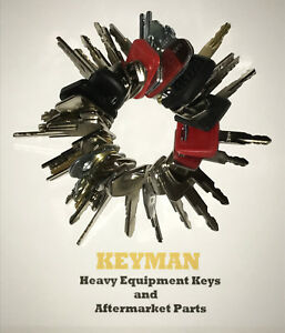 39 Heavy Equipment Keys Set Construction Ignition Key Set Cat Case Deere Komatsu