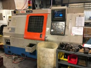 Used Mazak Sqt 15ms Cnc Lathe 1992 Live Tooling Sub Spindle Apc Barfeed Chip