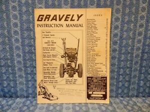 1960 1963 Gravely Tractors By Studebaker Original Instruction Manual 1961 1962