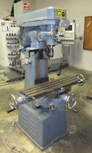 Enco 1005200 Vertical Knee Mill R8 Collets 8 x30 Table 1 Phase Milling Machine