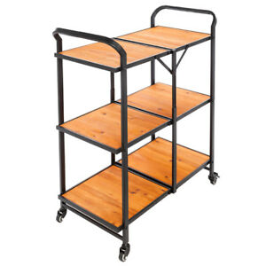 Kitchen Rolling Cart Fold Modern Cart Home Mobile Kitchen Cart