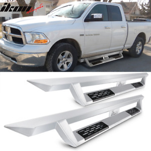 Fits 16 18 Ram 1500 10 18 2500 3500 Quad Cab Ikon V1 Style Running Boards Silver