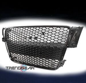Front Mesh Rs5 Style Bumper Hood Hex Grille Black For 2008 2012 Audi A5 s5 B8 8t