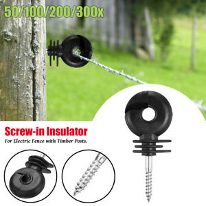 50 300pcs Electric Fence Offset Ring Insulators Fencing 3 4 Screw In Posts Wire