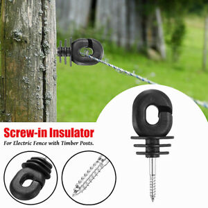 50 300pcs Electric Fence Offset Ring Insulators Fencing 4 Screw In Posts Wire