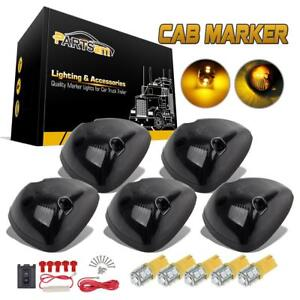 5x Cab Marker Clearance 264141bk Smoke Light 194 10 3528 smd Amber Led For Dodge