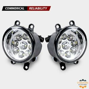 2 Led Fog Lights H8 H9 H11 6000k Clear Left Right For Toyota Camry Yaris Lexus