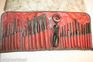Snap on Tools Matco Tools Chisel And Punch Set 27 Pcs In C2700 Kit Bag