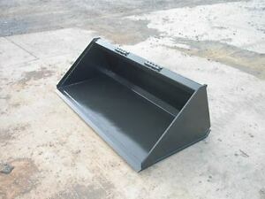 New 5 60 low Profile Pro Utility Bucket Skid Steer Loader Bobcat cat mustang