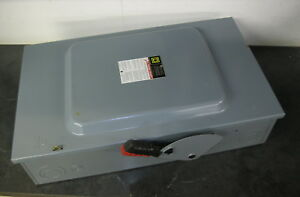 Square H224n Heavy Duty Fusible Safety Switch 2 Pole 200 Amp 240 Volt Series F05