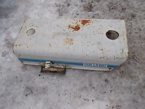 International Cub 154 Low Boy Tractor Ih Engine Motor Hood Cover Grease Gun Hold
