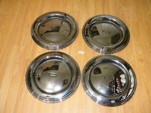 4 Del Met New Old Stock 15 Hub Caps Wheel Covers Chevy 1975 Chevelle Impala