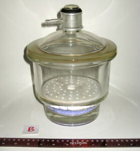 Pyrex 6 inch Diam Vacuum Desiccator Coors Perforated Porcelain Plate b