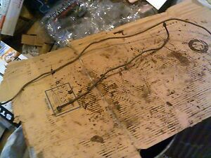 Oliver 77 Rowcrop Tractor Gas Fuel Line And Oil Line To Guage