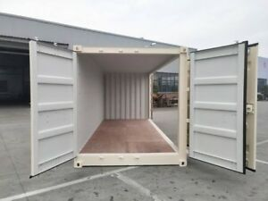 One Trip 40 Shipping Containers Trip Cargo Worthy long Beach Beige