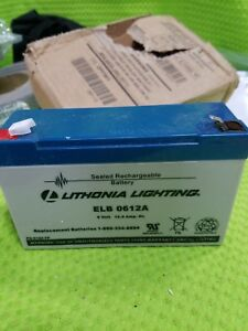 Lithonia Lighting Elb0612a Rechargeable Non spillable Sealed Battery 2pfw1
