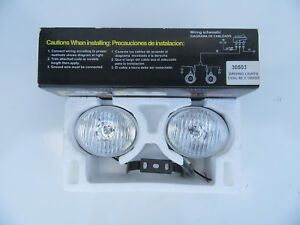 Universal Spot Fog Lights Pair New To Suite Any Make And Model H3 12v Bulbs